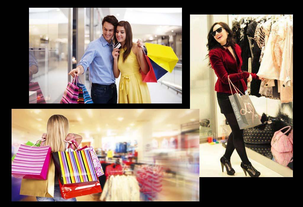 Pessoas felizes fazendo compra na Black Friday