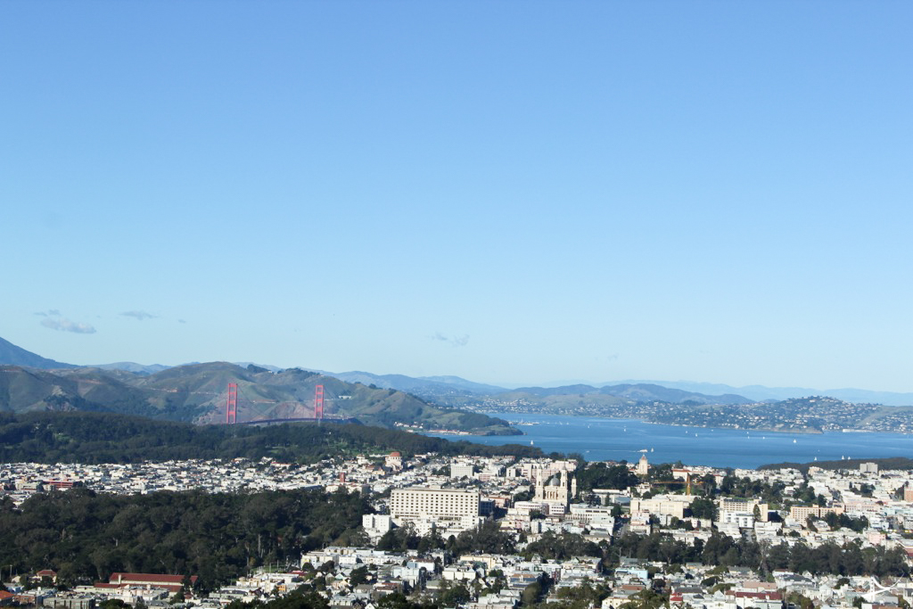 Vista da Golden Gate do Twin Peaks