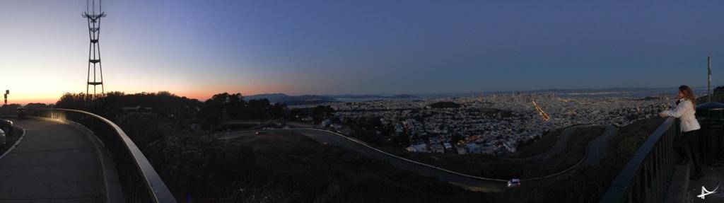 Vista do mirante do Twin Peaks