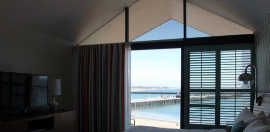 Vista do quarto no Dream Inn