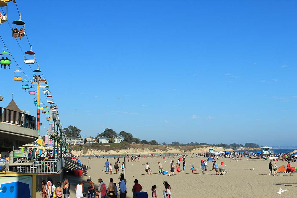 O parque na beira da praia em Santa Cruz