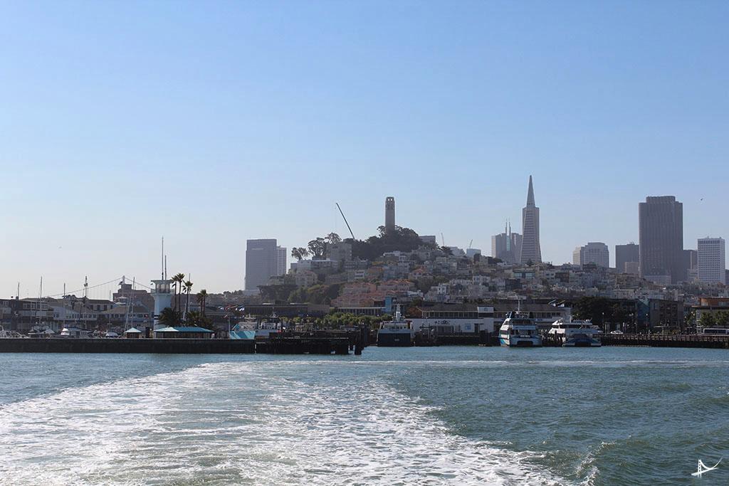 Vista da cidade do barco