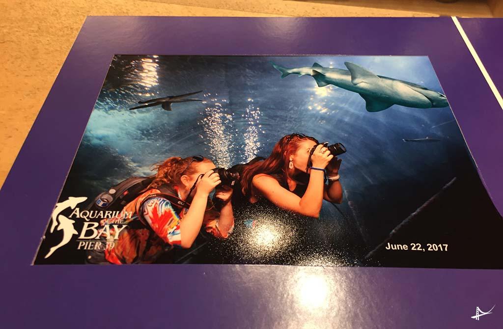 Tirando foto no Aquario