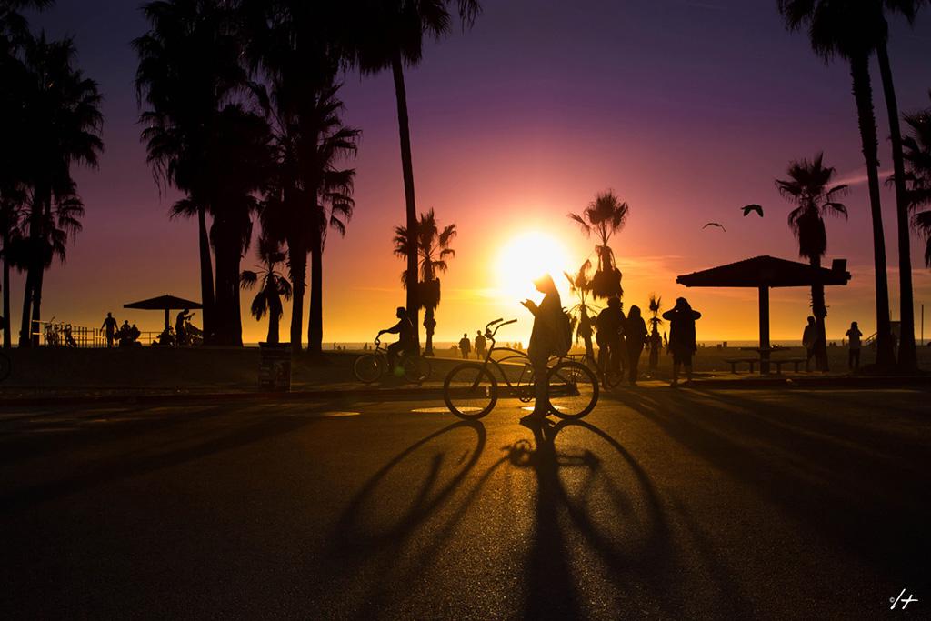 Por do sol em Venice