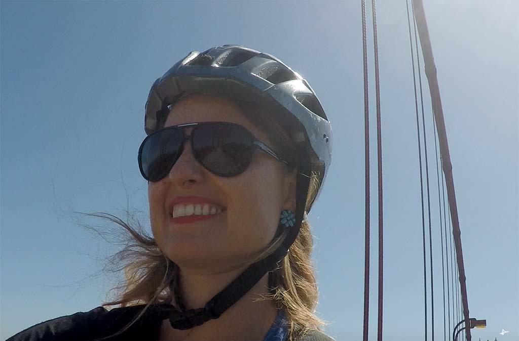 Atravessando a Golden Gate de bike