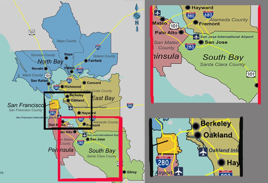 cidades do Vale do Silício e as principais empresas