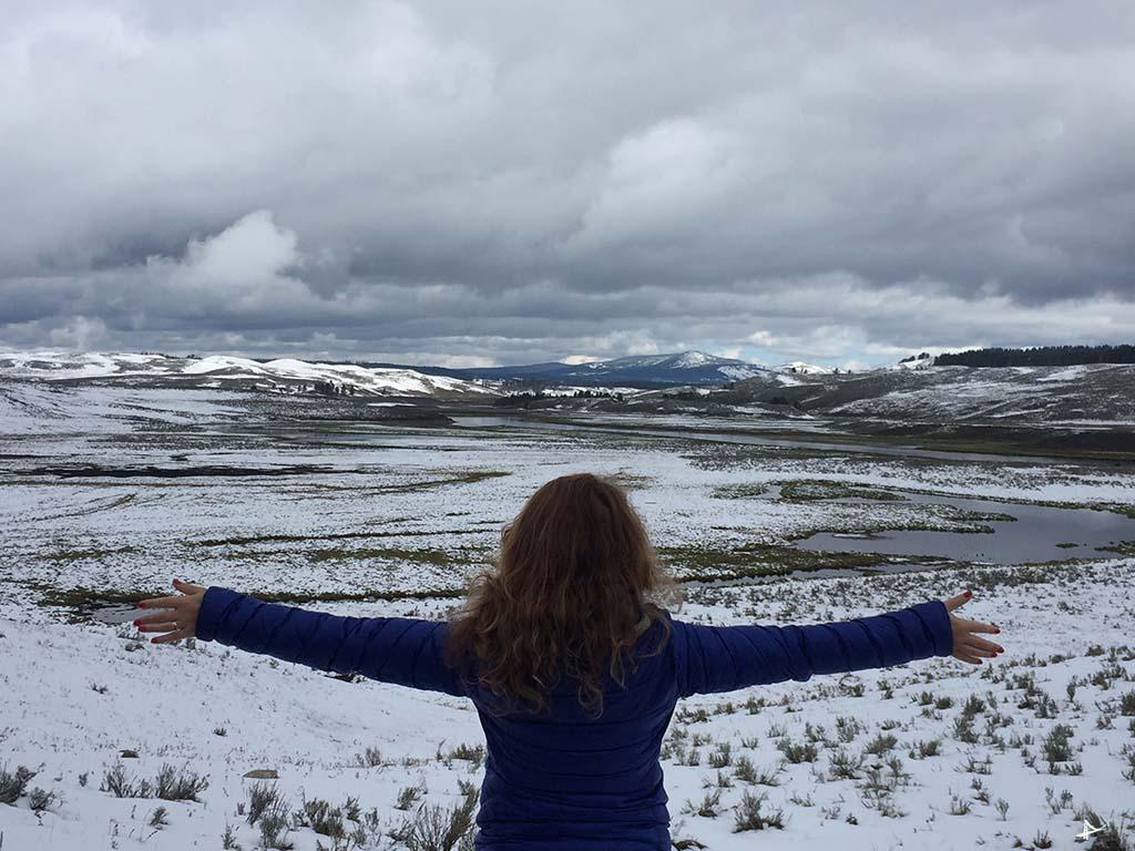 paisagem no Yellowstone
