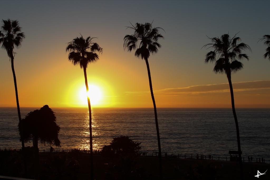 Por do sol em La Jolla
