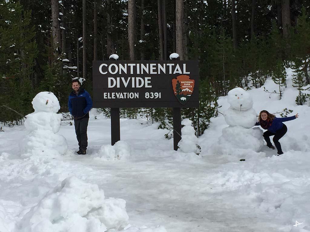Continental Divide no Yellowstone