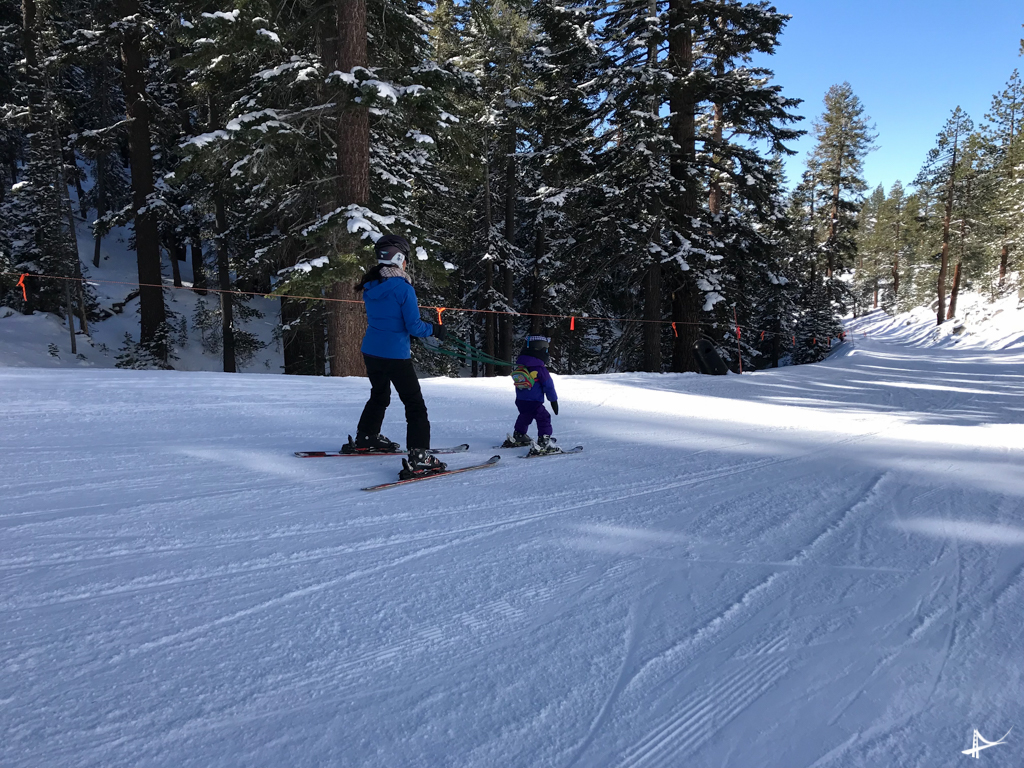 ski com crianças