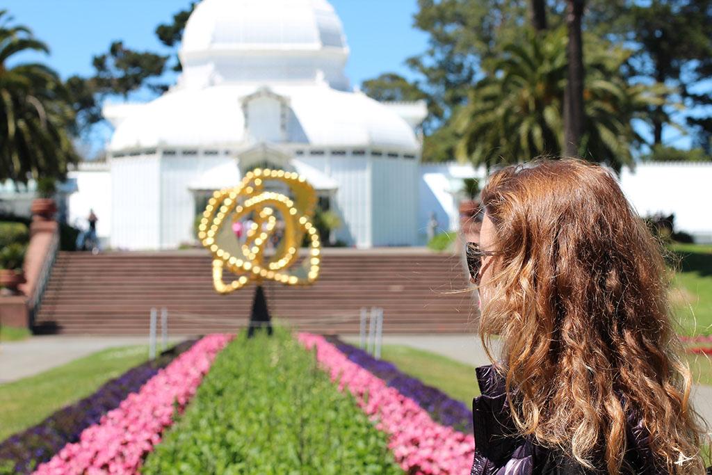 Conservatório das flores no Golden Gate Park