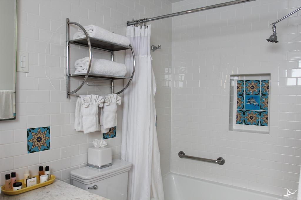 Banheiro do nosso quarto no Avalon