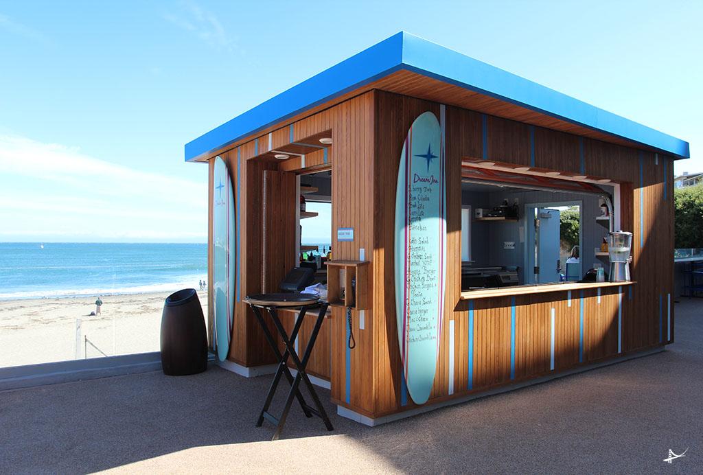 Bar no Dream Inn em Santa Cruz