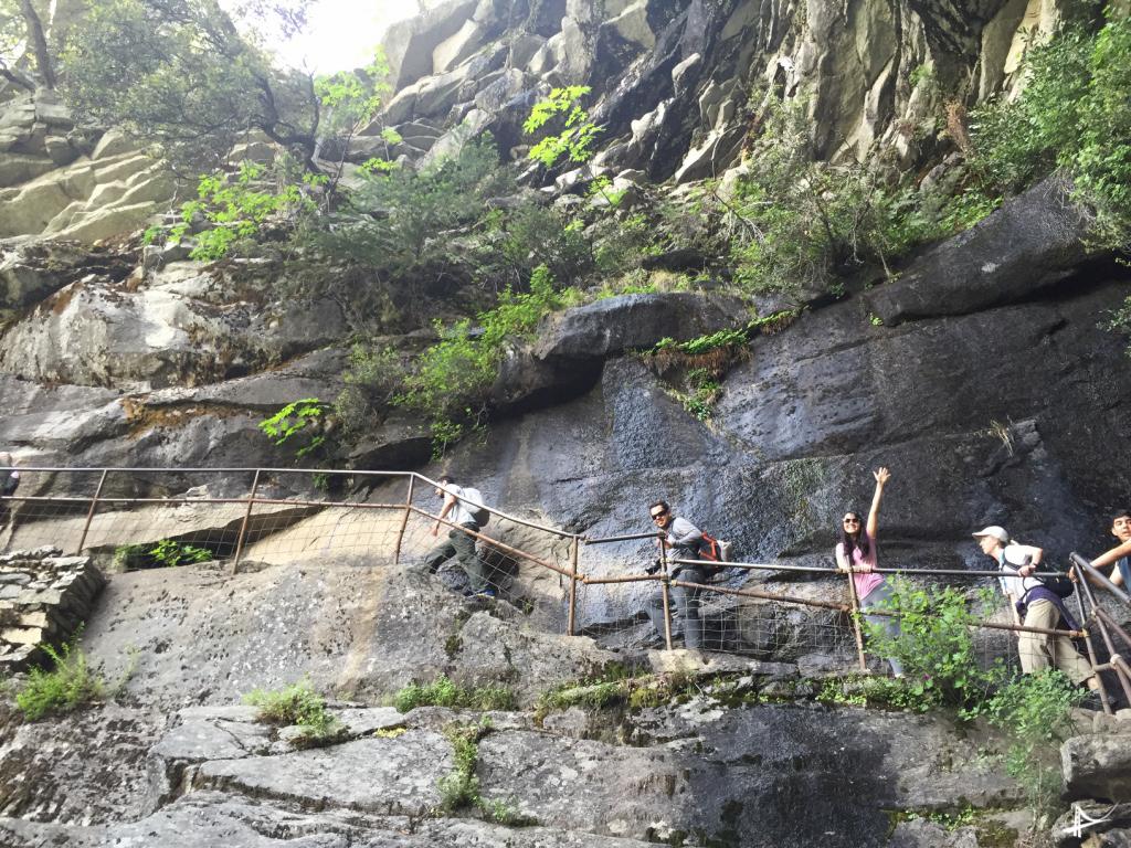 Subindo a Vernal Falls