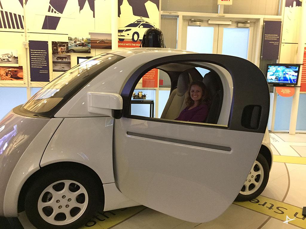 Carros autônomos no museu do computador
