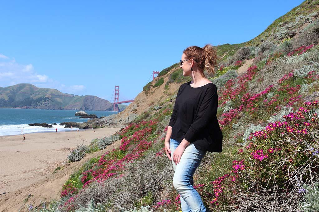 Vista da Golden Gate bridge da Baker Beach