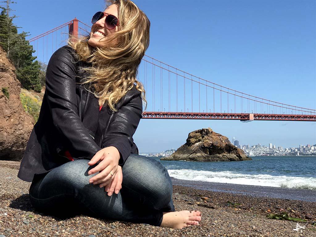 Vista da Golden Gate Bridge de Kirby Cove