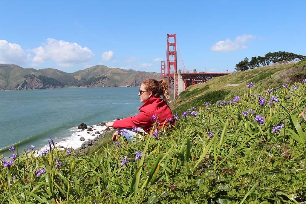 Vista da Golden Gate bridge do Pacific Overlook