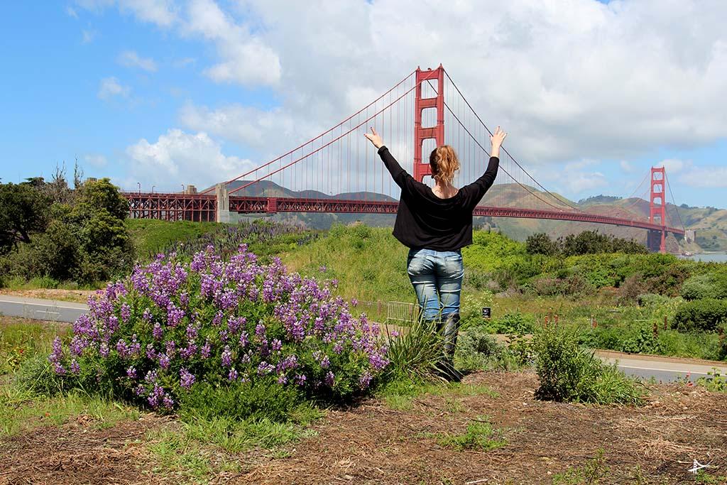 Vista da Golden Gate do Fort Point