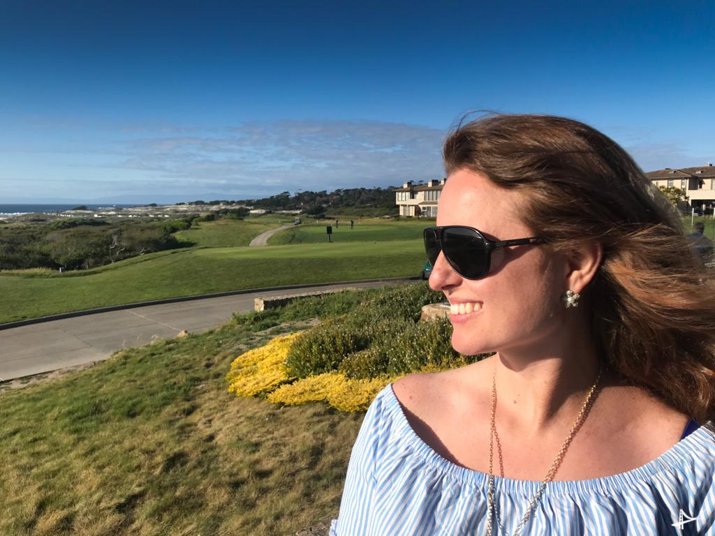 Apreciando a vista no The Inn at Spanish Bay
