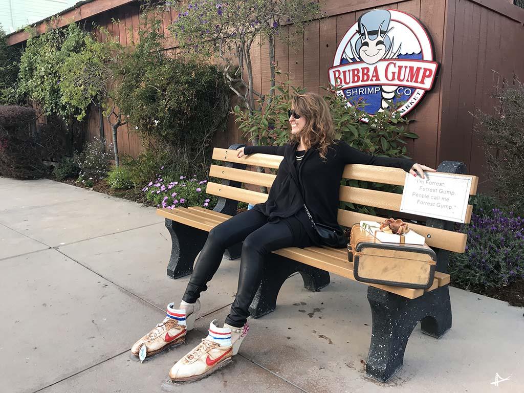 Banquinho do Forrest Gump em Monterey