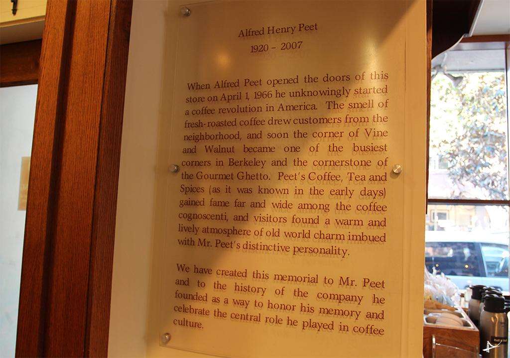 Primeiro café da rede Peet's em Berkeley