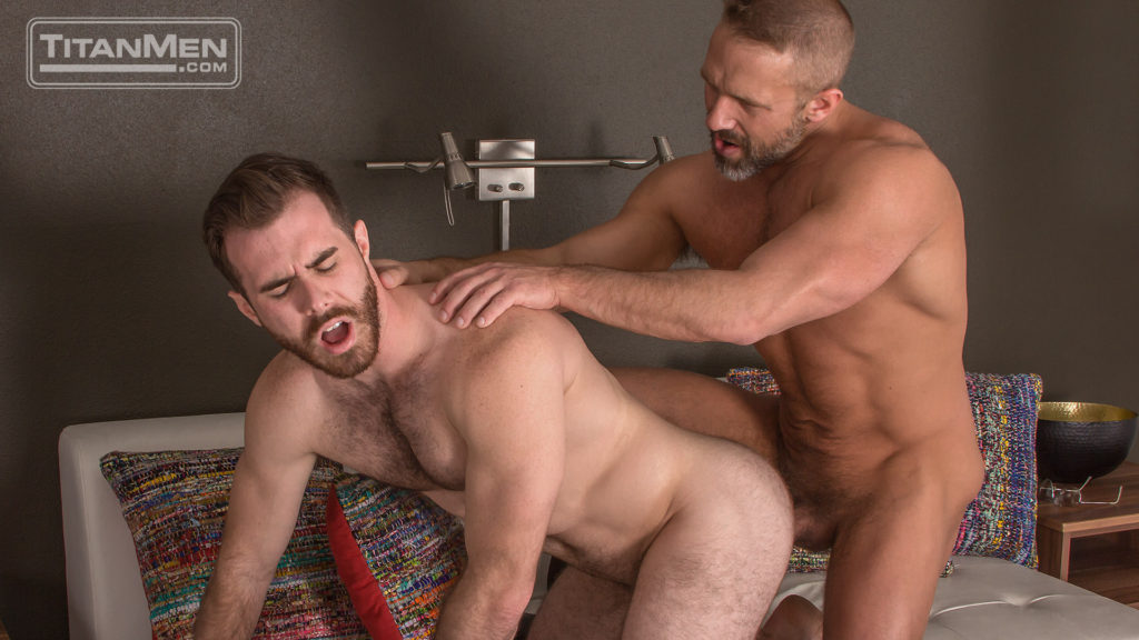 Dirk Caber delivers his hard cop cock into hairy hole 0647