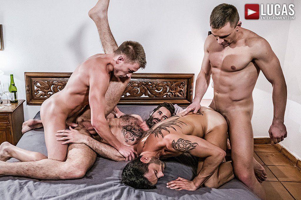 Four Hung Guys Have Bareback Orgy 07