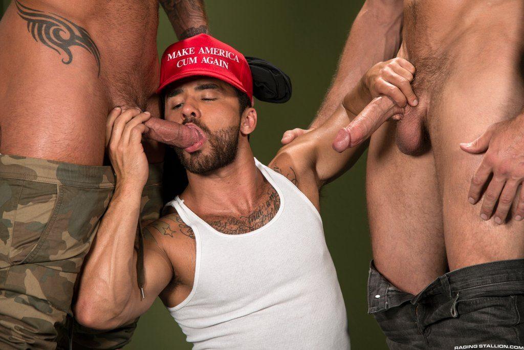 Two Rednecks Show Bruno Bernal Their Big Guns 02