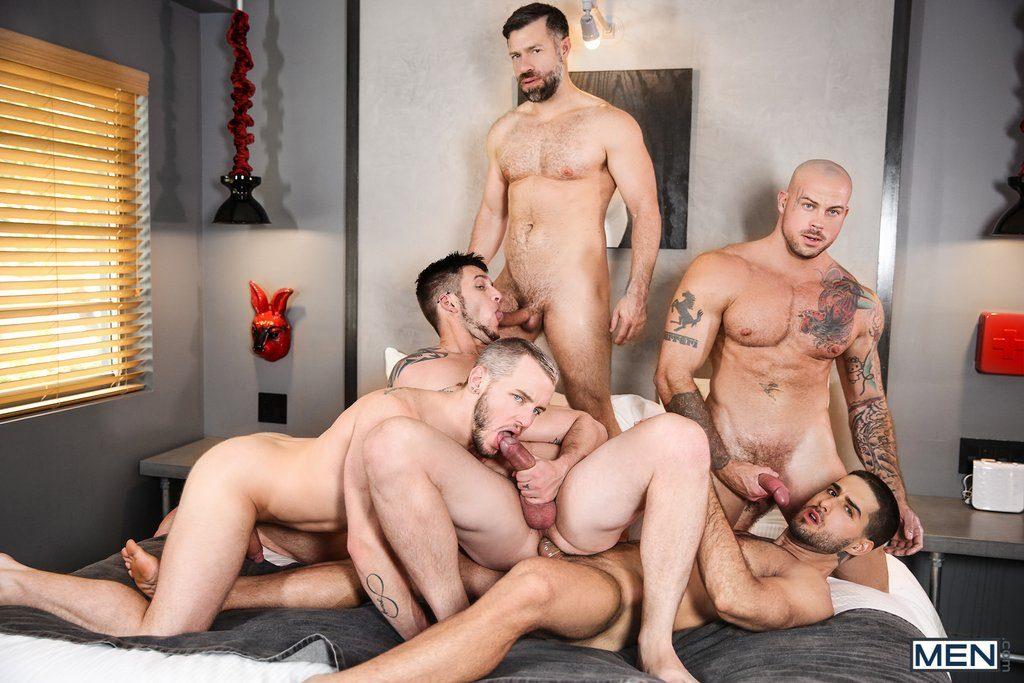 Five Sexy Guys Fuck Hard 06