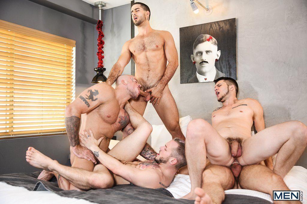 Five Sexy Guys Fuck Hard 08