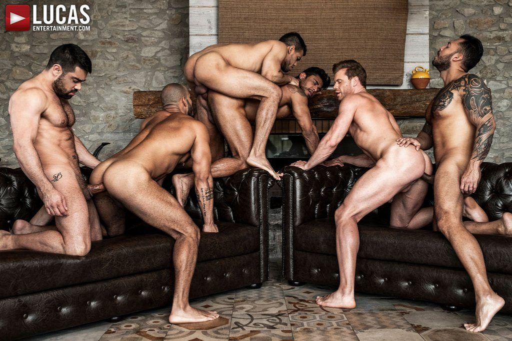 Six Sexy Hunks Fuck Raw 03