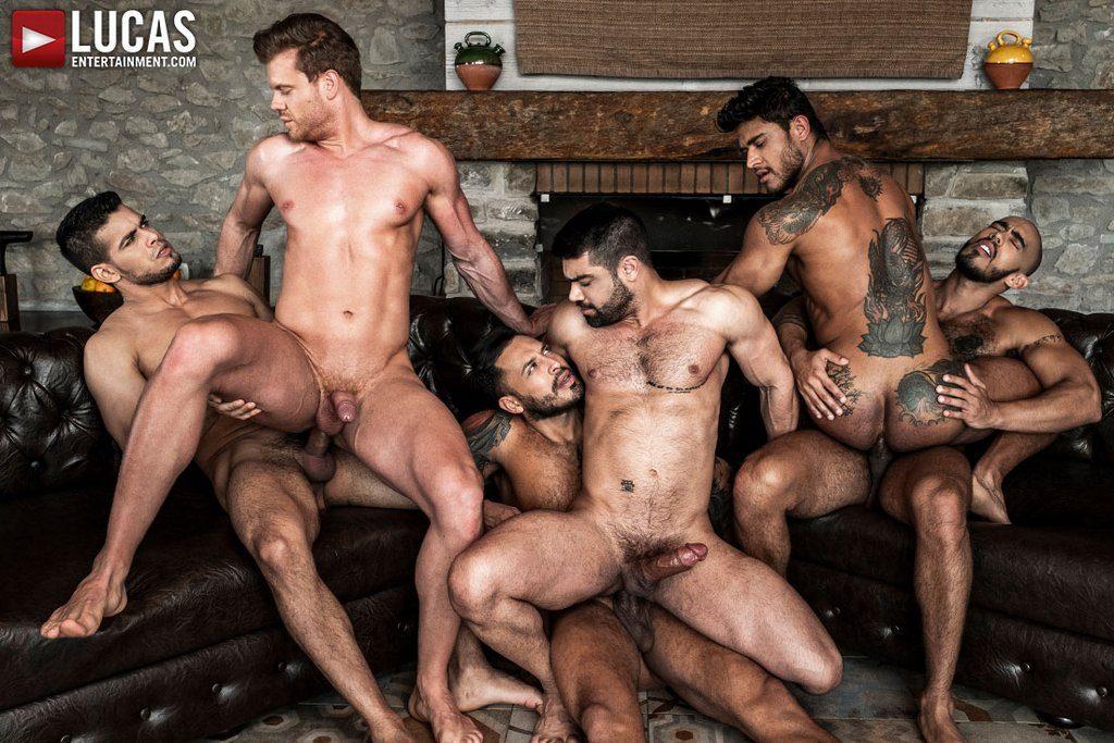 Six Sexy Hunks Fuck Raw 04