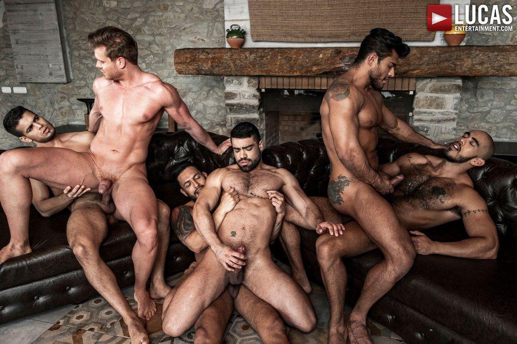 Six Sexy Hunks Fuck Raw 05