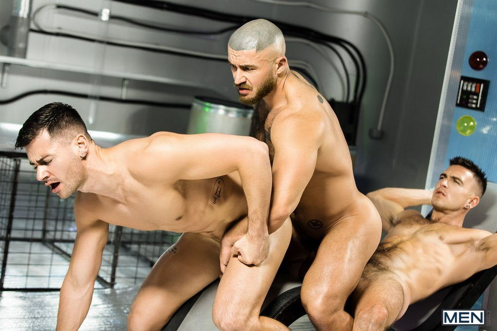 Lukas Daken and Francois Sagat Drill Paddy O'Brian 10