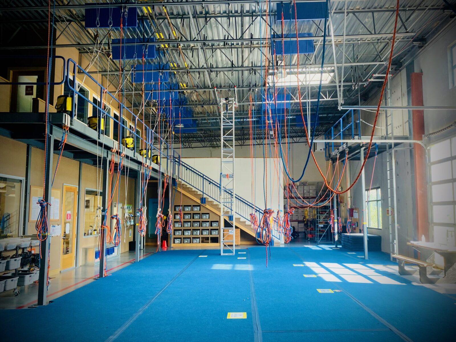 Petzl Technical Partner - MISTRAS/Ropeworks - indoor training facility