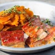 Glazed Pork Belly with Sweet Potato