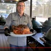 Roasting a Turkey on the Big Green Egg