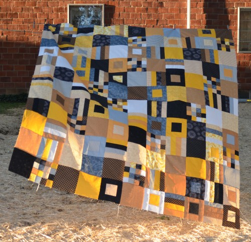 Finished (not) Purdue Quilt Top