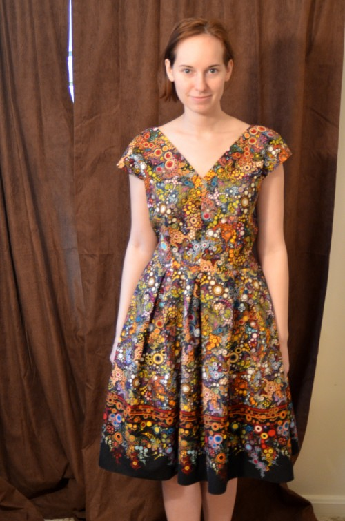 vintage border dress