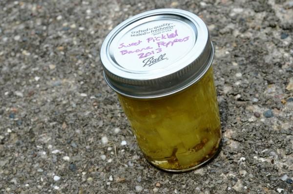 pickled pepper slices
