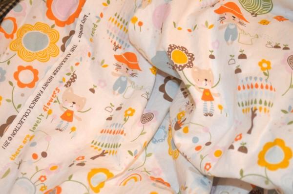 kitty garden fabric