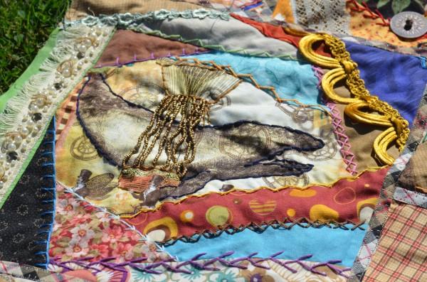 Steampunk Crazy Quilt Closeup