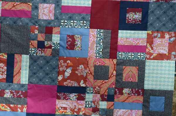 His and Hers Quilt Top Closeup