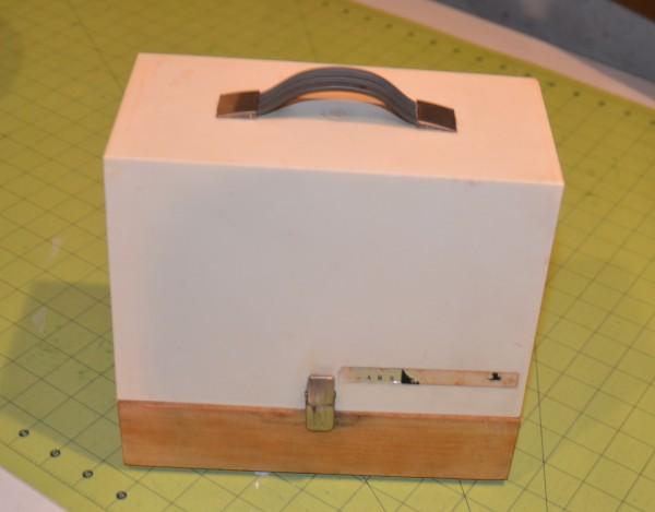 sears mini sewing machine in case