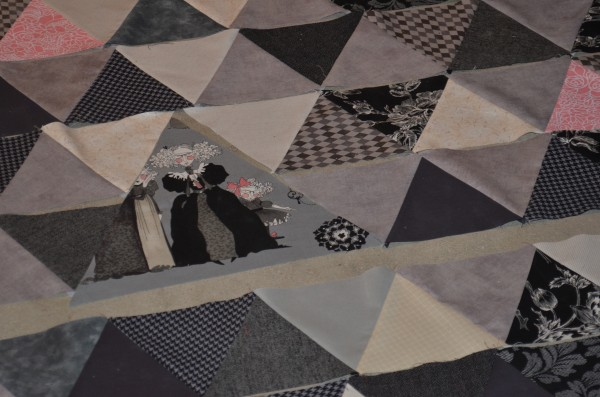 triangle quilt rows