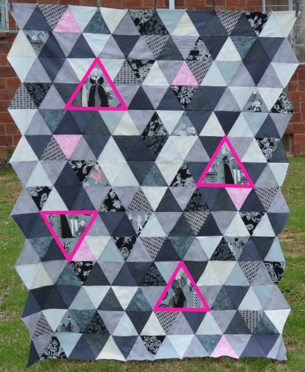 triangle quilt top
