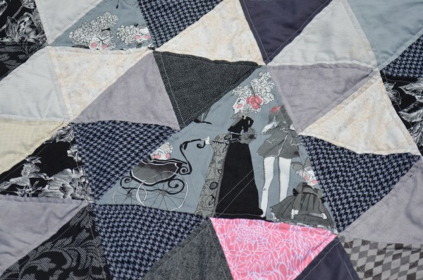 triangle quilting detail