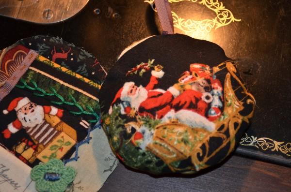 crazy Christmas ornament backing