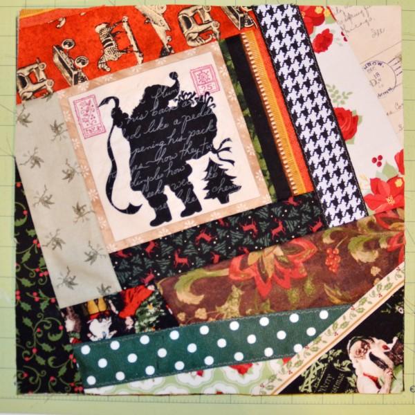Christmas quilt block #1